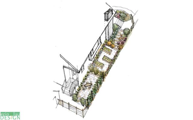 Side yard design sketch