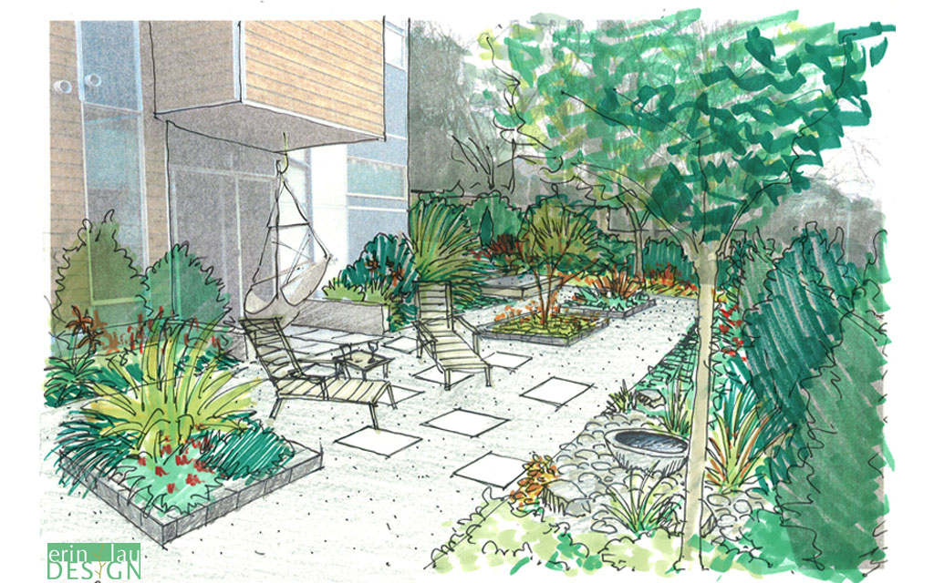 landscape design sketches. gravel garden design sketch landscape sketches a