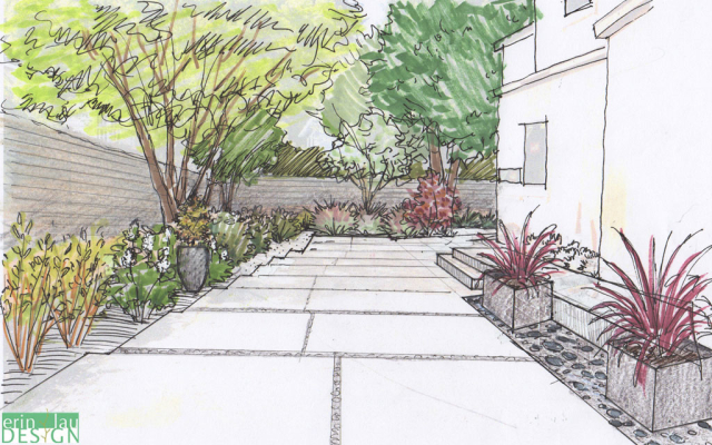 Drawntogarden from concept to reality a garden designer for Garden design sketches