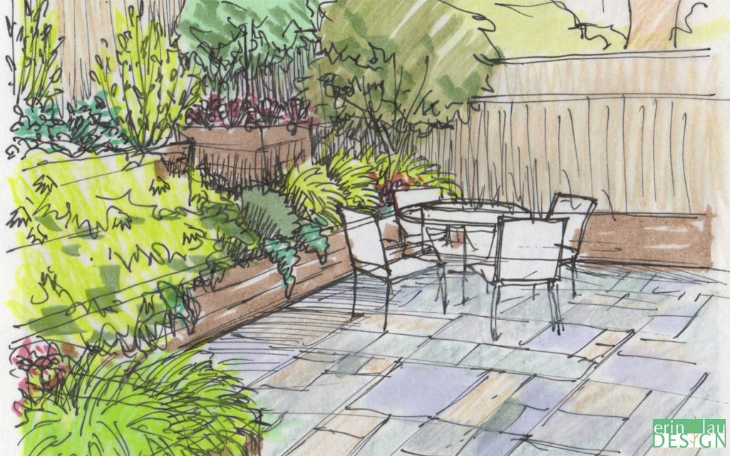 Garden creation how to draw a perspective sketch drawntogarden